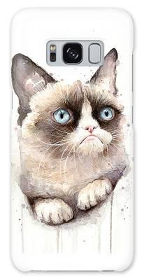 Watercolor Pet Portraits Galaxy Cases