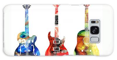 Blues Art Guitarist Galaxy Cases
