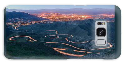 Highway 74 Palm Desert Ca Vista Point Light Painting Galaxy Case