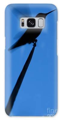 Hummingbird Silhouette Galaxy Case