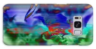 Galaxy Case featuring the painting In The Sea by Ericamaxine Price