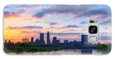 Indianapolis Indiana Sunrise Panoramic Hdr Galaxy Case