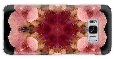 Iris Germanica Flower Mandala Galaxy Case