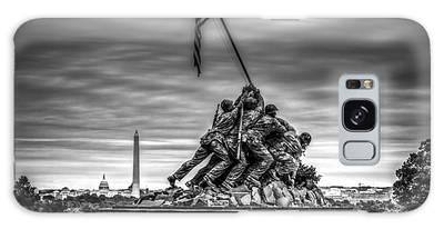 Iwo Jima Monument Black And White Galaxy Case