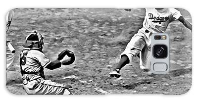 Jackie Robinson Stealing Home Galaxy Case