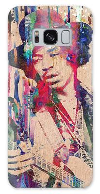 Rock N Roll Music Jimi Hendrix Galaxy Cases