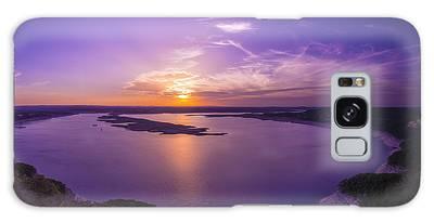 Lake Travis Sunset Galaxy Case