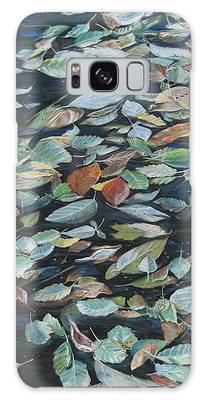 Leaves On Pond Galaxy Case