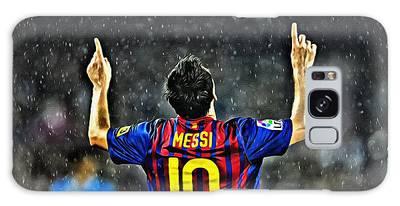 Leo Messi Poster Art Galaxy Case