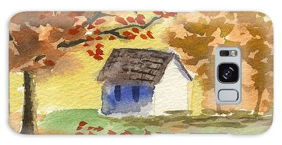 Little Cottage In Autumn Galaxy Case