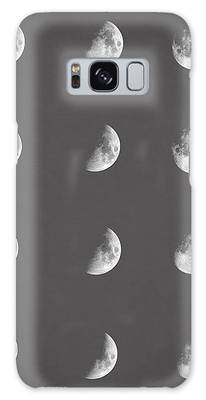 Moon And Stars Galaxy Cases