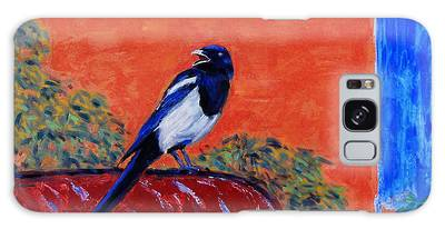 Magpie Singing At The Bath Galaxy Case