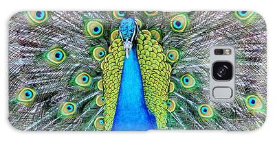 Galaxy Case featuring the photograph Male Peacock by Cynthia Guinn