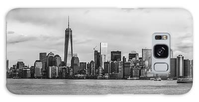 Manhattan Skyline Black And White Galaxy Case