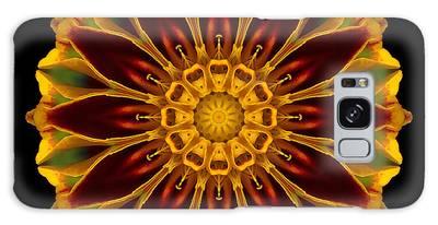 Marigold Flower Mandala Galaxy Case