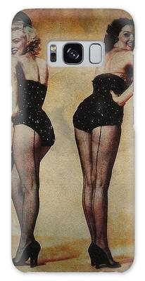 Galaxy Case featuring the photograph Marilyn Monroe And Jane Russell by Ericamaxine Price