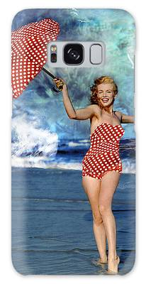 Galaxy Case featuring the photograph Marilyn Monroe - On The Beach by Ericamaxine Price