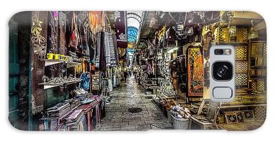 Market In The Old City Of Jerusalem Galaxy Case