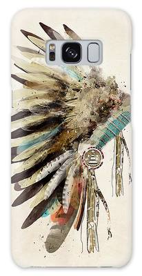 Feather Headdress Galaxy Cases