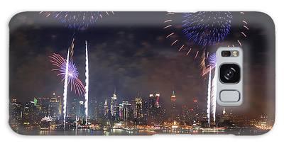 New York City Fireworks Show Galaxy Case
