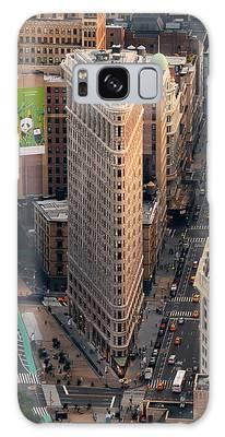New York City Flatiron Building Aerial View In Manhattan Galaxy Case