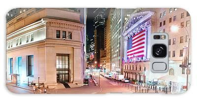 New York City Wall Street Panorama Galaxy Case