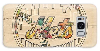 New York Mets Poster Vintage Galaxy Case