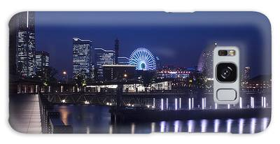 Night Scene In Blue Of Minatomirai In Yokohama Galaxy Case