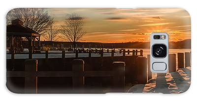 Northport New York Winter Sunset Galaxy Case