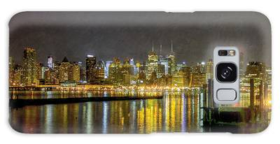 Nyc At Night Faux Oil Galaxy Case