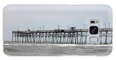 Galaxy Case featuring the photograph Oak Island Beach Pier by Cynthia Guinn