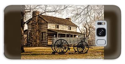 Old Log Cabin In Autumn Galaxy Case