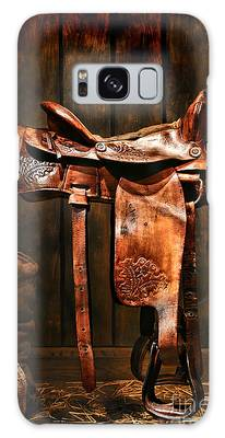 Old Western Saddle Galaxy Case