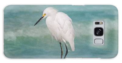 One With Nature - Snowy Egret Galaxy Case