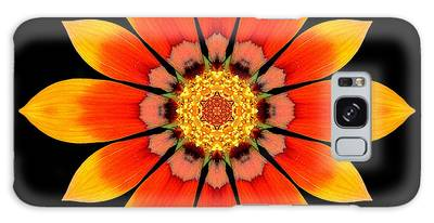 Orange Gazania I Flower Mandala Galaxy Case