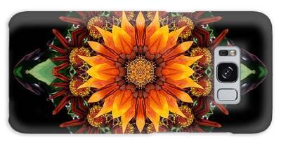 Orange Gazania IIi Flower Mandala Galaxy Case