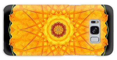 Orange Nasturtium Flower Mandala Galaxy Case