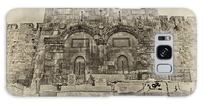 Outside The Eastern Gate Old City Jerusalem Galaxy Case