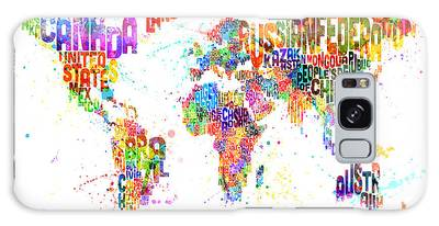 Text Map Digital Art Galaxy Cases