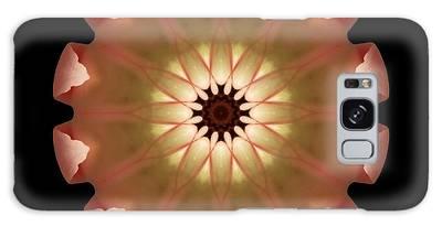 Pale Pink Tulip Flower Mandala Galaxy Case