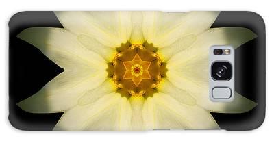 Pale Yellow Daffodil Flower Mandala Galaxy Case