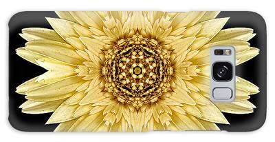 Pale Yellow Gerbera Daisy I Flower Mandala Galaxy Case