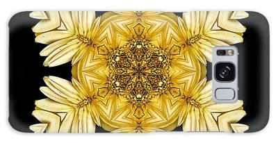 Pale Yellow Gerbera Daisy Vii Flower Mandalaflower Mandala Galaxy Case