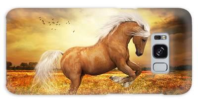Palomino Horse Sundance  Galaxy Case