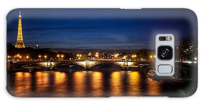 Galaxy Case featuring the photograph Paris At Dusk by Ryan Wyckoff