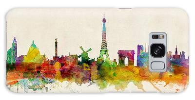 Paris France Skyline Panoramic Galaxy Case
