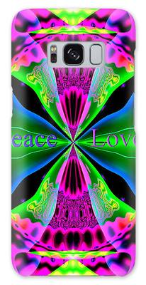 Galaxy Case featuring the digital art Peace And Love by Visual Artist Frank Bonilla