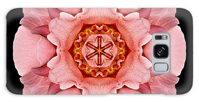Pink And Orange Rose Iv Flower Mandala Galaxy Case