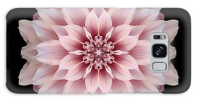 Pink Dahlia Flower Mandala Galaxy Case