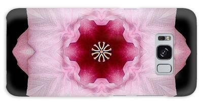 Pink Hibiscus I Flower Mandala Galaxy Case